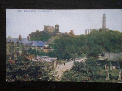 POSTCARD EDINBURGH CALTON HILL  1910'S