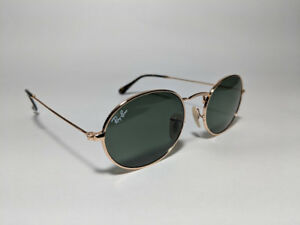 Ray Ban Oval sunglasses - Gold frame , Green lens