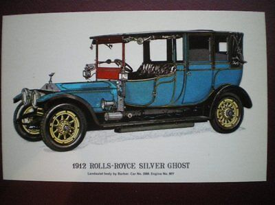 POSTCARD CAR 1912 ROLLS ROYCE SILVER GHOST
