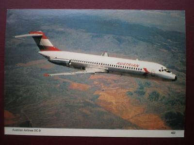 POSTCARD AIR AUSTRIAN AIRLINES DC-9 AEROPLANE
