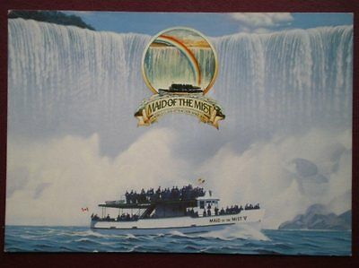 POSTCARD MAID OF THE MIST BOAT TOUR - NIAGARA FALLS
