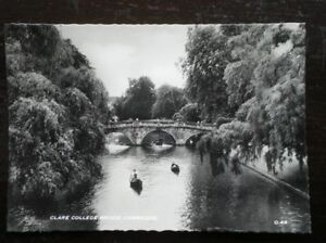 POSTCARD-RP-CAMBRIDGESHIRE-CAMBRIDGE-CLARE-COLLEGE-BRIDGE