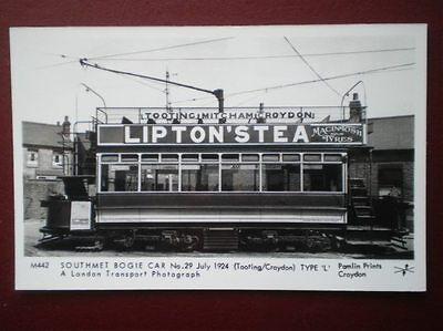 POSTCARD RP TRAM - SOUTHMET BOGIE CAR NO 29 1924