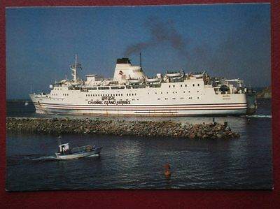 POSTCARD ROZEL BRITISH CHANNEL ISLAND FERRIES