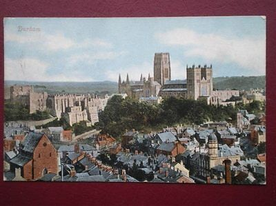 POSTCARD DURHAM DURHAM - VIEW TOWARDS THE CATHEDRAL C1900