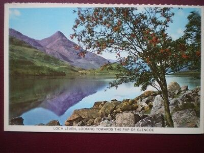 POSTCARD PERTHSHIRE LOCH LEVEN LOOKING TOWARDS THE PAP OF GLENCOE