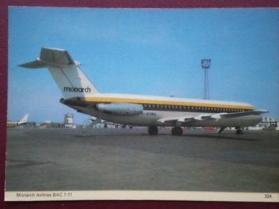 POSTCARD MONARCH AIRLINES BAC 1-11