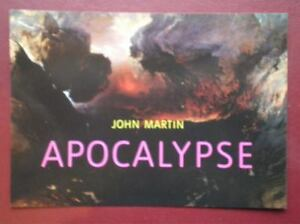 POSTCARD ADVERT BOOK ADVERT - JOHN MARTIN - APOCALYPSE