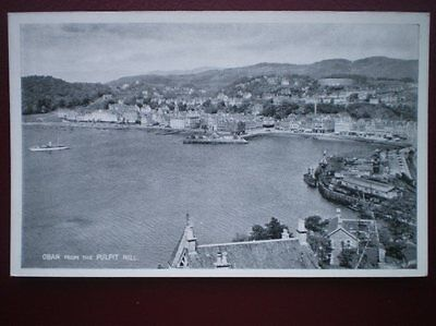 POSTCARD RP ARGYLLSHIRE OBAN FROM THE PULPIT HILL