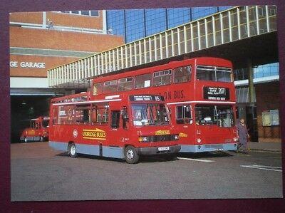 POSTCARD LTM 536 LONDON TRANSPORT MCM METROBUS & MERCEDES BENZ MINIBUS AT UXBRID