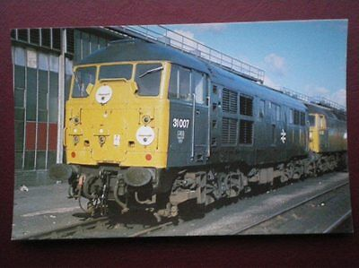 POSTCARD CLASS 31 LOCO NO 31 007 ON STRATFORD M.P.D IN 1978