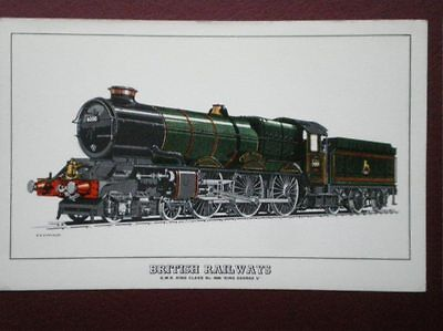 POSTCARD BRITISH RAILWAY LOCO GWR KING CLASS NO 6000 'KING GEORGE V'