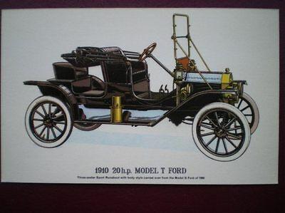 POSTCARD CAR 1910 20 HP MODEL T FORD CAR