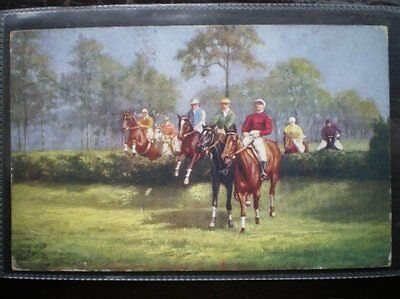 POSTCARD RP SPORT STEPPLECHASING - A GALLOP ACROSS THE FLAT