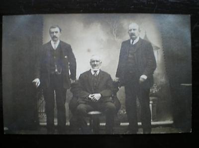POSTCARD - RP SEPIA PICTURE OF THREE GENTLEMEN