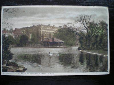 POSTCARD DUBLIN DUBLIN SHELBORNE HOTEL FROM ST STEPHENS GREEN