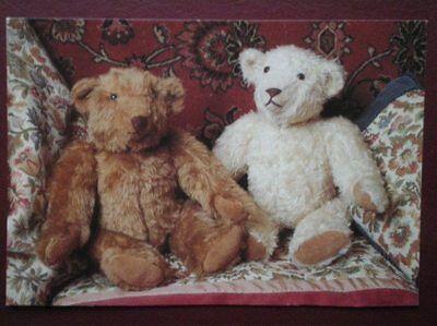 POSTCARD CHILDREN TWO TEDDY BEARS