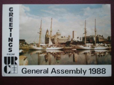 POSTCARD RELIGIOUS GREETINGS FROM URC - GENERAL ASSEMB;Y 1988 - LIVERPOOL WATERF