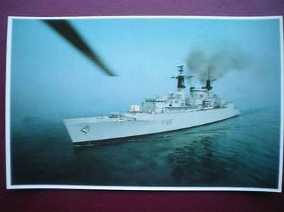 POSTCARD RP WWI FALKLANDS TASK FORCE - HMS BROADSWORD ARMED  EXOCET & SEAWOLF