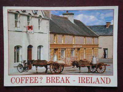 POSTCARD CORK COFFEE BREAK IRELAND