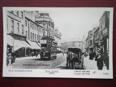 POSTCARD RP YORKSHIRE HUDDERSFIELD - NEW STREET C1910