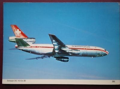POSTCARD SWISSAIR DOUGLAS DC-10 SRS 30