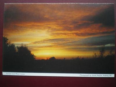 POSTCARD A3-2 HERTFORDSHIRE SUNSET OVER MOOR GREEN