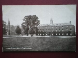 POSTCARD-SHROPSHIRE-SHREWSBURY-THE-SCHOOL