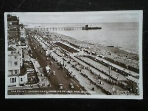 POSTCARD-RP-SUSSEX-BRIGHTON-1950S-SEA-FRONT-LOOKING-EAST-SHOWING-PALACE-PIER