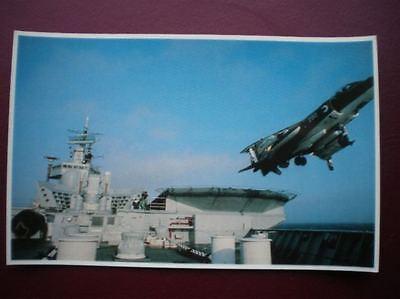 POSTCARD RP WWI FALKLANDS TASK FORCE - SEA HARRIER ROARS INTO SKY HMS INVINCIBLE