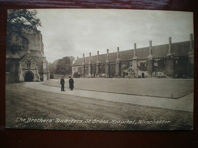 POSTCARD WINCHESTER THE BROTHERS QUARTERS ST CROSS HOSPITAL