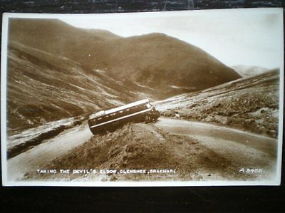 POSTCARD RP PERTHSHIRE GLENSHEE - TAKING THE DEVILS ELBOW