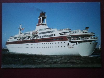 POSTCARD M.S ASTOR AT CAPE TOWN