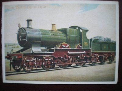 POSTCARD GREAT WESTERN EXPRESS ENGINE
