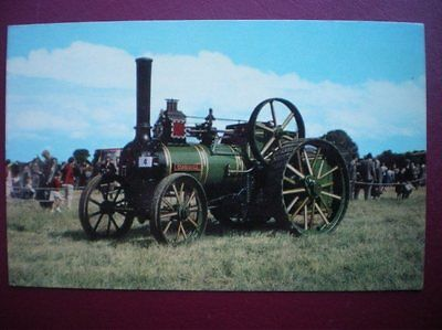 POSTCARD  FOWLER STEAM ROLLER NO 14674 BUILT IN 1922