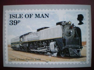 POSTCARD 844 UNION PACIFIC LOCOMOTIVE - 1992 PHQ