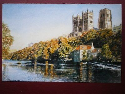 POSTCARD DURHAM DURHAM CATHEDRAL - PAINTING BY K CHARLTON