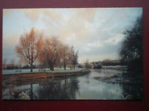 POSTCARD-B6-BUCKINGHAMSHIRE-RIVER-OUSE-IN-WINTER-OLNEY