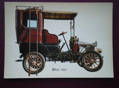 POSTCARD CAR WHITE 1903 CAR