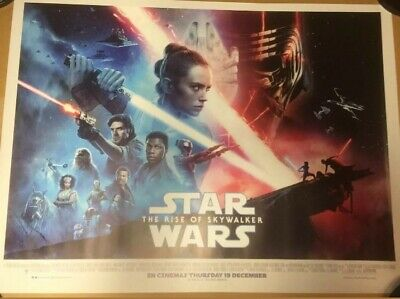 Star wars the rise of skywalker quad 30x40 poster