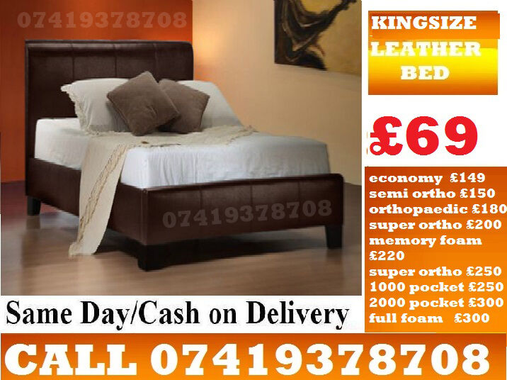 KingSize leather Base availableBeddingin South Croydon, LondonGumtree - MID FEB OFFER.~.~.Available at Half of the Orignal Price.~.~. We Deal in all sizes of Divan ,Leather Beds.~.~.Other Furnitures sofabeds, wardrobe, sofa available also.~.~.Brand New Delivery Same day Contact Us