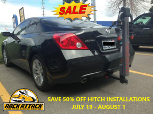 50% OFF HITCH INSTALL ONLY AT RACK ATTACK VAUGHAN