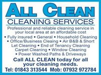 All Clean Cleaning Services for all your cleaning needs.