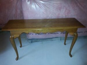 SOLID OAK SIDE/HALL TABLE - $70.00