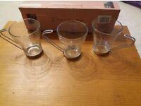 Coffee Mugs with Chrome holders