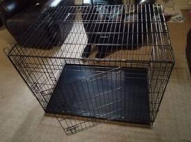 """Ellie-Bo 42"""" Dog Cage in Black"""