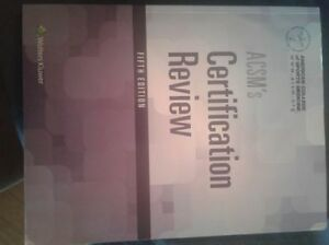 ACSM Certification Review Textbook 5th Edition