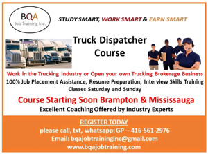 NEW COMERS TO CANADA DO TRUCK DISPATCHER COURSE =FREE DEMO