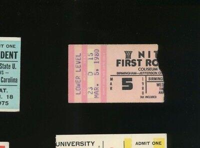 3/5/1980 National Invitation Tournament NIT Basketball - First Round Ticket Stub
