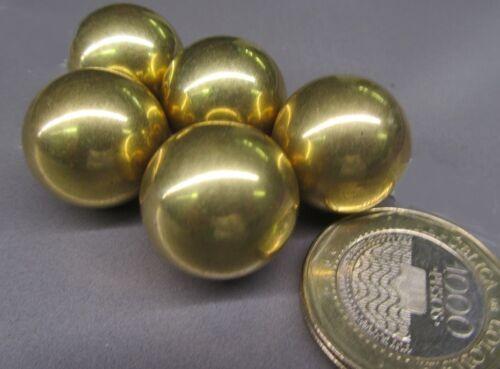 """260 Brass Solid Balls 3/4"""" Dia. +/-.001"""", 5 Pcs"""